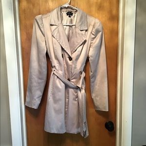 Bebe Satin Trench Coat